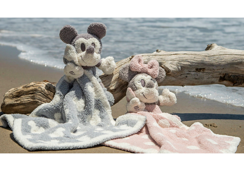 Barefoot Dreams Barefoot Dreams Cozychic Vintage Minnie Mouse Buddie Blanket in Dusty Rose/Multi
