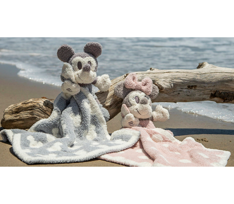 Barefoot Dreams Cozychic Vintage Minnie Mouse Buddie Blanket in Dusty Rose/Multi