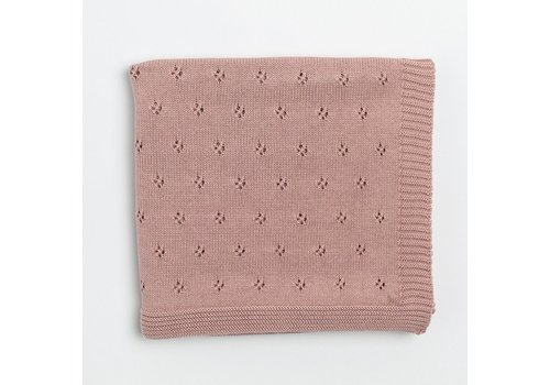 Zestt Organics Zestt Organics Clover Knit Baby Blanket Berry