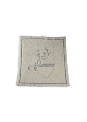 Barefoot Dreams BD Cozychic Teacup Puppy Blanket Ocean