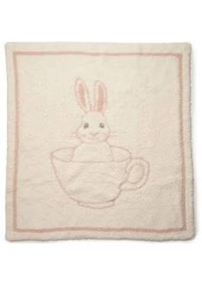 Barefoot Dreams BD Cozychic Teacup Bunny Blanket Dusty Rose
