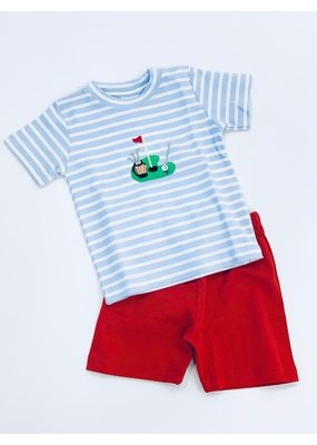 Squiggles Squiggles Golf Green Shirt & Short Set