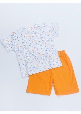 Squiggles Squiggles Fish Fabric T-Shirt & Short Set - Multi/Orange
