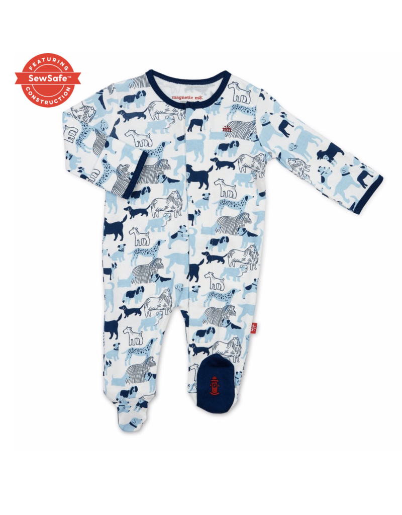Magnetic Baby Magnetic Me Best in Show Organic Cotton Magnetic Footie