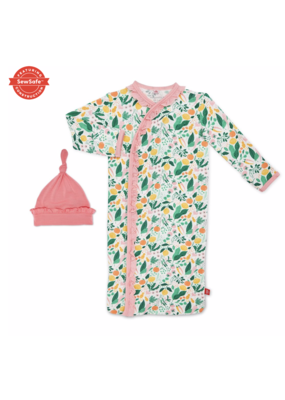 Magnetic Baby Magnetic Me Lemon Verbena Modal Magnetic Gown & Hat Set