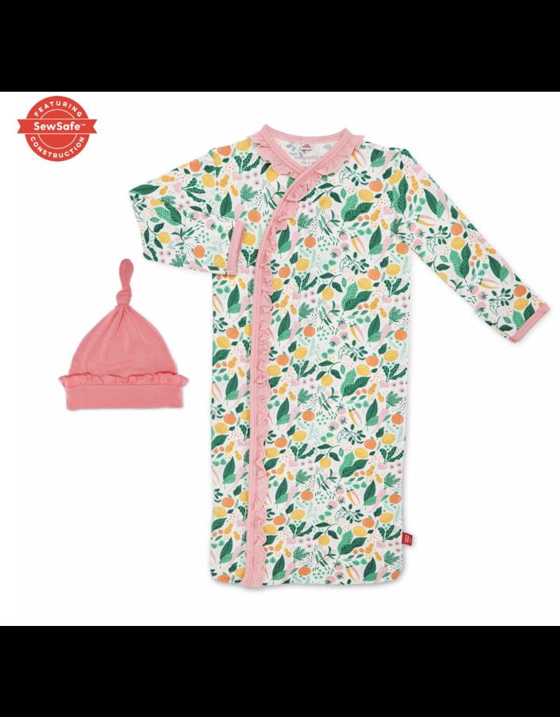 Magnetic Baby Magnetic Me Lemon Verbena Modal Magnetic Gown & Hat Set