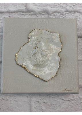 Nikki Hanna  Art 4x4 Canvas Heron Gray