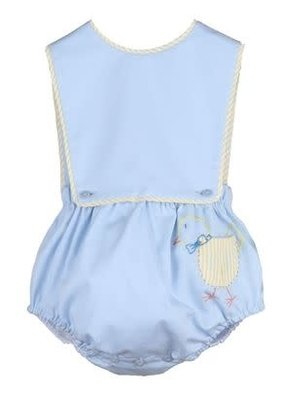 Sophie & Lucas SL Pocket Peep Boy Overall in Blue