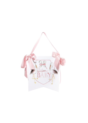 Over the Moon Welcome Baby Hanger - Pink