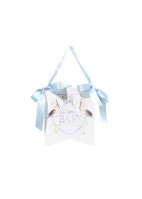 Over the Moon Welcome Baby Hanger - Blue