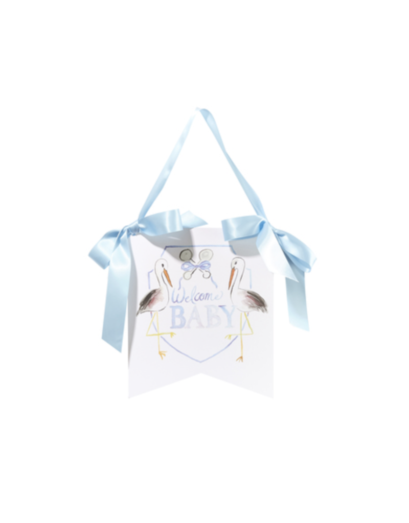 Over the Moon Over the Moon Welcome Baby Hanger - Blue