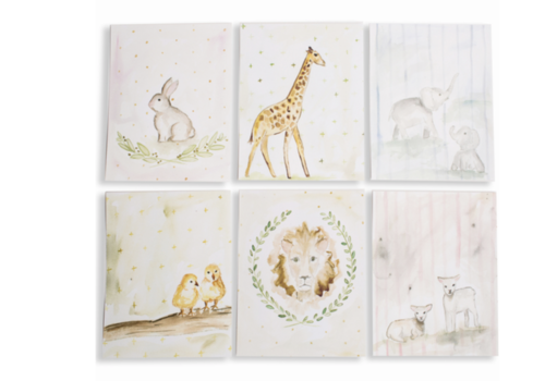 Over the Moon Baby's First Animals - Set of 6 Prints