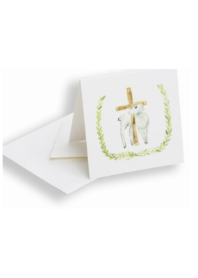 Over the Moon Enclosure Card - Lamb and Cross