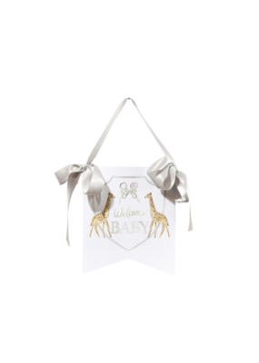 Over the Moon Welcome Baby Hanger - Giraffe