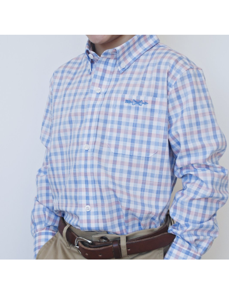 Brown Bowen and Company Bowen Arrow Button Down Pawley's Island Plaid