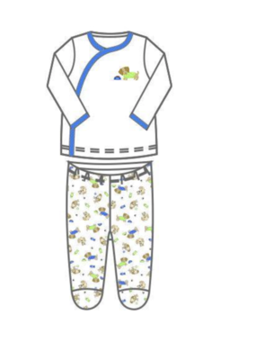 Magnolia Baby MB Printed X-Tee Footed Pant Dog Days