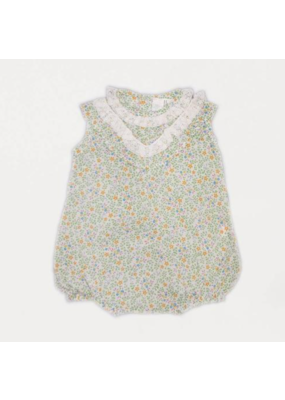 Cuclie Baby Cuclie Baby Boho Bubble Romper - White Floral