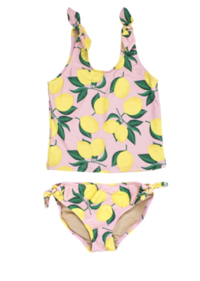 Shade Critters Shade Critters Tankini Tie Side Lemons Yellow/Pink