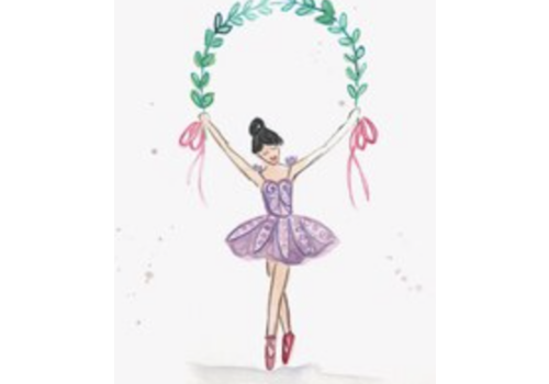 Over the Moon Over the Moon Enclosure Card - Ballerina (Brunette)