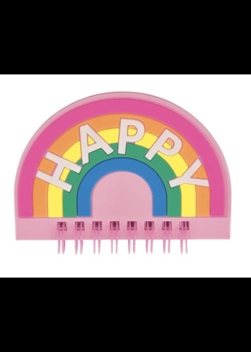 Iscream Rainbow Mini Shaped Journal Happy
