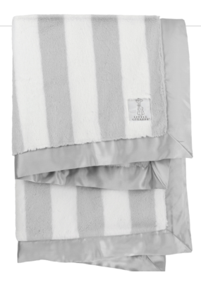 Little Giraffe Little Giraffe Luxe Hamptons Stripe Blanket Silver