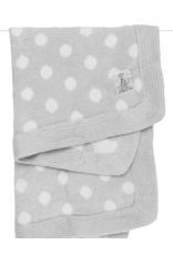Little Giraffe Little Giraffe Dolce Dot Blanket in Silver