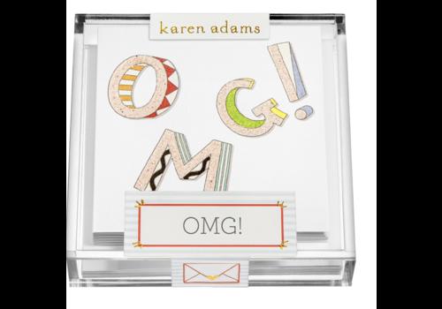"Karen Adams Karen Adams Acrylic Box Enclosures ""OMG"""