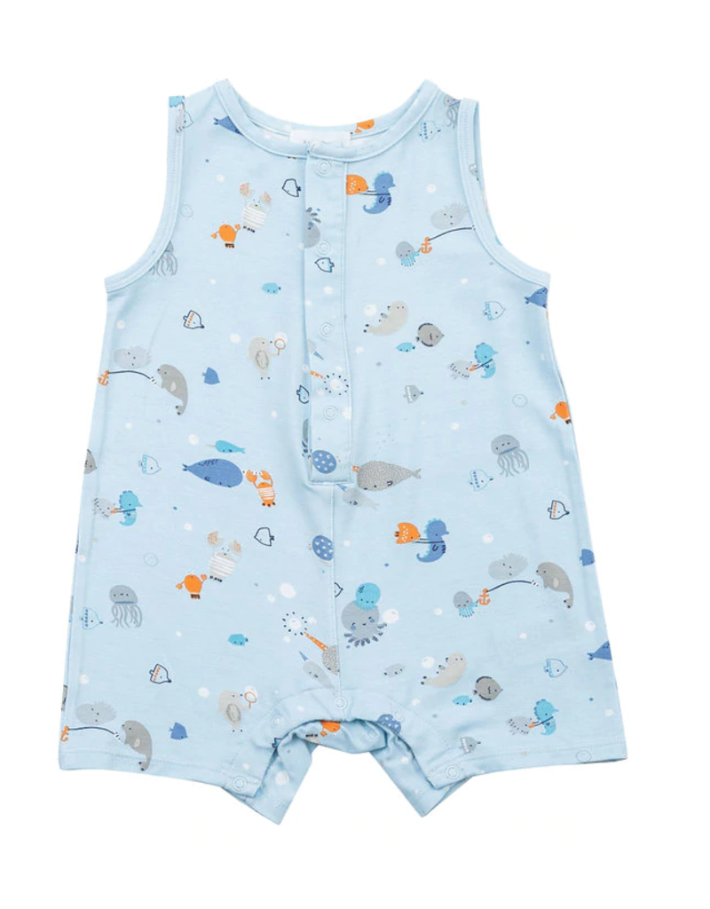 Angel Dear Angel Dear Happy Ocean Sleeveless Shortie Romper