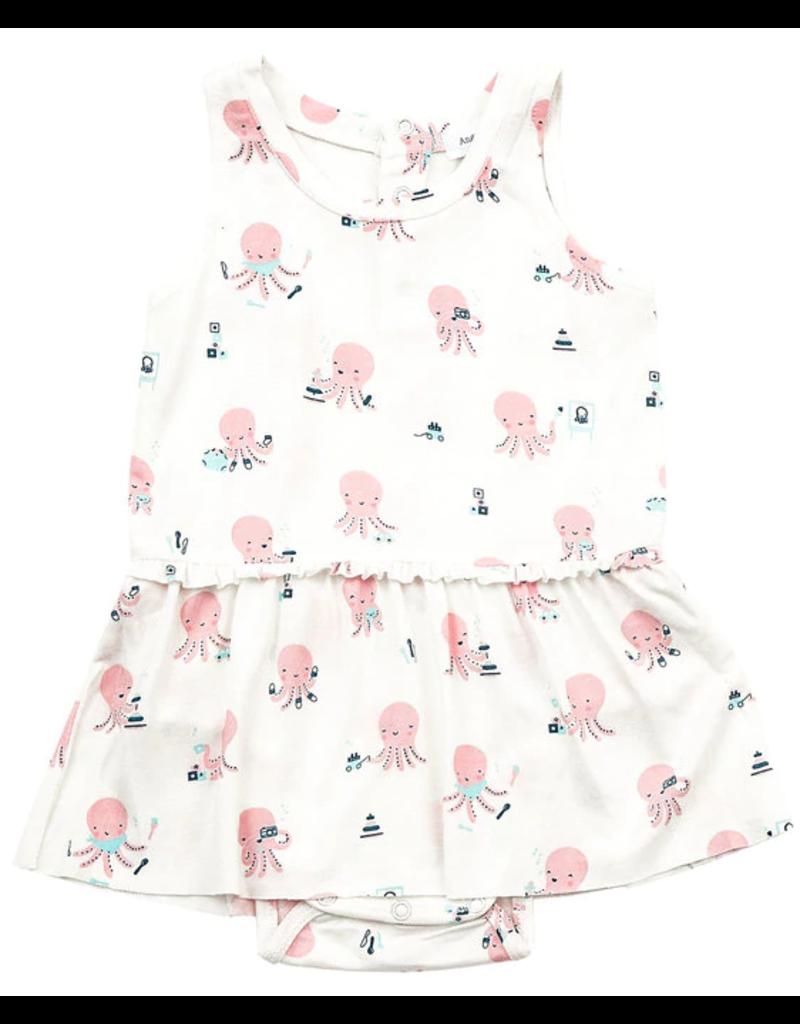 Angel Dear Angel Dear Octopus Playtime Bodysuit with Skirt Pink
