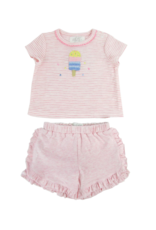Albetta Albetta Crochet Lolly Tee & Shorts Set