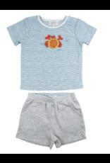 Albetta Albetta Crochet Crab Tee & Shorts Set