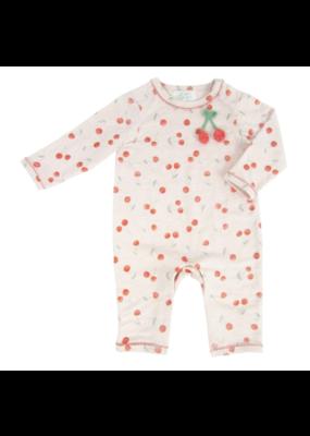 Albetta Albetta Crochet Cherry Printed Babygro