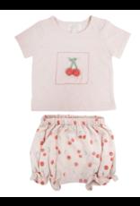 Albetta Albetta Crochet Cherry Tee & Shorts Set