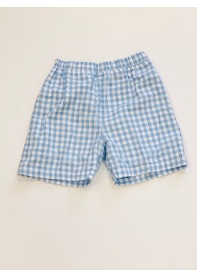 The Beaufort Bonnet Company The Beaufort Bonnet Company Shelton Shorts Blue Gingham Sz 6