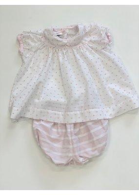 La Petite Fleur Clothier La Petite Fleur Sweet Pea Molly Bloomer Set Pink 2T
