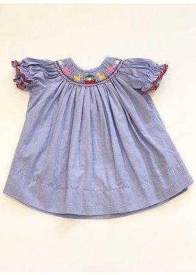 Petit Bebe Petit Bebe Noah's Ark Bishop Dress Royal Blue 2T
