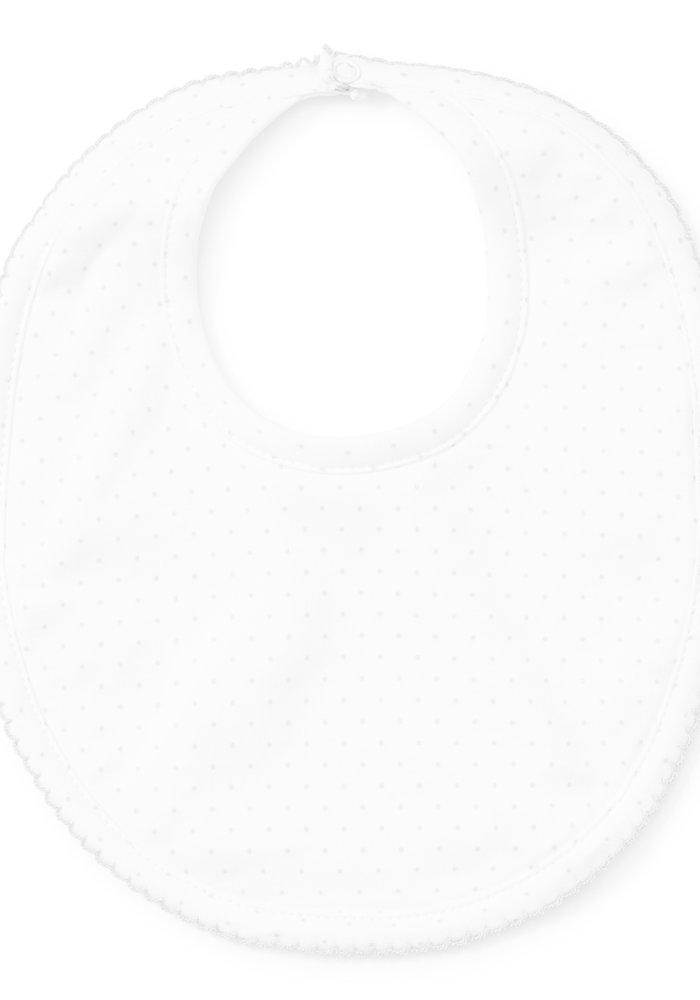 KK New Kissy Dots Print Bib White/Silver
