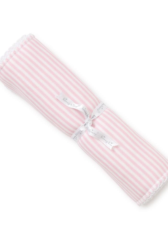 KK Stripes Burp Cloth Pink