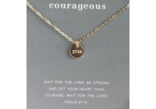 "Dear Heart Designs DHD ""Courageous"" - Gold 18"" Necklace 14kt goldfilled"
