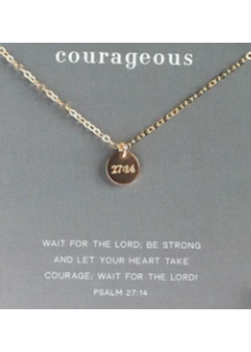 """Dear Heart Designs DHD """"Courageous"""" - Gold 18"""" Necklace 14kt goldfilled"""