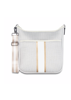 HauteShore Haute Shore Blake - Nile Crossbody White Croc/Gold Stripe