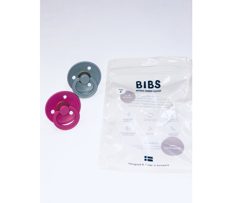 Bibs Paci Size 2 Pack of Two - More Colors Available