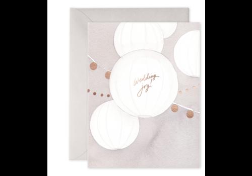 E. Frances Paper -  Wedding Lanterns Greeting Card