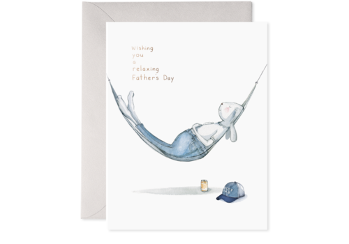 E. Frances Paper -  Hammock Dad Greeting Card