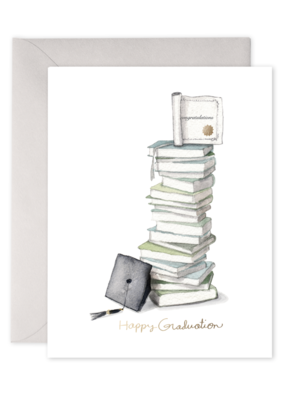 E. Frances Paper E.Frances Paper - Grad Book Stack Greeting Card