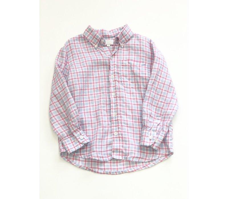 Alise Kathleen & Company Pink & Blue Plaid Buttondown Size 5