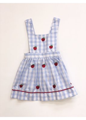 Monday's Child Monday's Child Blue Gingham & Apple Emb Dress