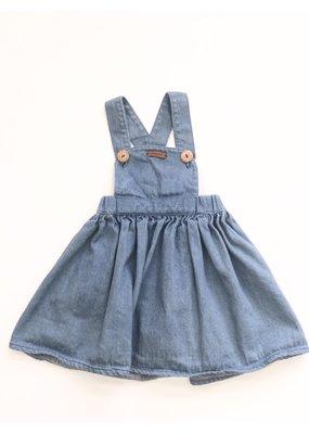 milou&pilou Milou&Pilou Double Bleached Pinafore Dress 2T