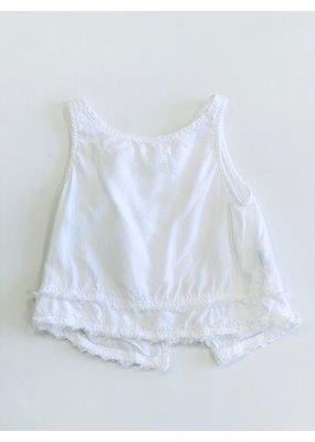 Bella Dahl Bella Dahl Sleeveless Freyed White Blouse Size 2T