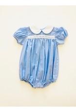 Lullaby Set Lullaby Set Light Blue Mini Gingham w/Ribbon Bubble 3T